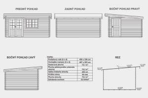 Alena, zahradní chatka, srubová chata, dřevěná zahradní chata, zahradní domek Výrobce 3