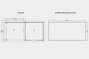 VLASTA 1 s přístřeškem, zahradní domek, zahradní chatka, domek na zahradu, chatka na nářadí. Výrobce 3