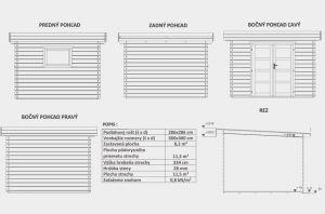 VLASTA 1, zahradní domek, zahradní chatka, domek na zahradu, chatka na nářadí. Výrobce 3