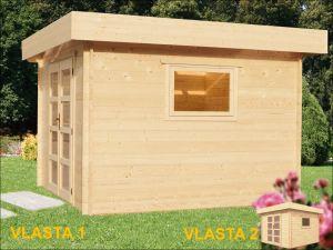 VLASTA 2 s přístřeškem, zahradní domek, zahradní chatka, domek na zahradu, chatka na nářadí. Výrobce 3