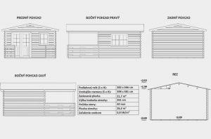 Zahradní chatka EMILY s terasou, síla stěny 40 mm. Srubová zahradní chatka s terasou, zahradní domek Výrobce 3