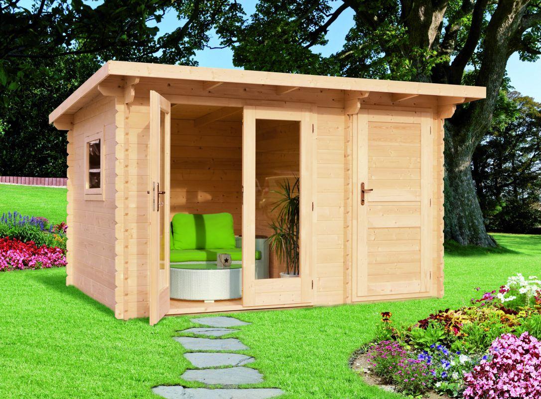 Moderní zahradní chatka ANETA, síla stěny 28mm, moderní zahradní chatka, srubová zahradní chatka Výrobce 3