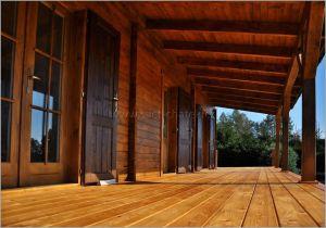 Srub Lagos - dřevěná terasa modřín