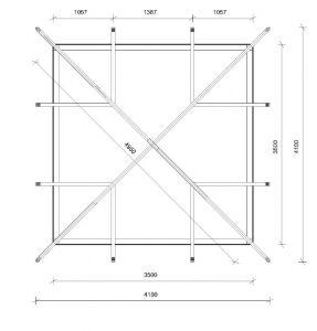 Zahradní altán 4 stranný 350x350cm, zahradní pavilon 4 stranný 350x350cm Výrobce 3